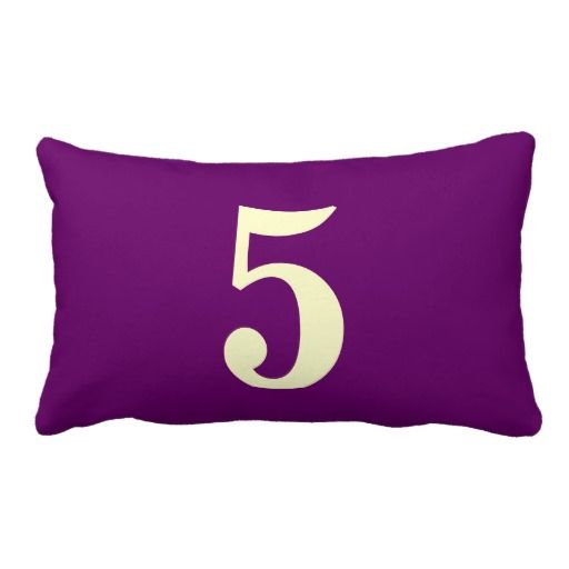 Throw Pillow With Numbers : Number 5 throw pillow