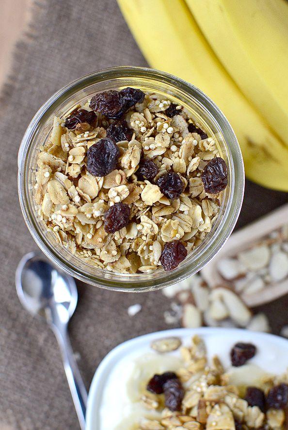 Crunchy Quinoa Granola | foodie | Pinterest