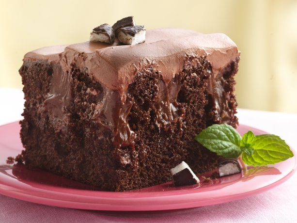 Chocolate-Peppermint Poke Cake | Recipe