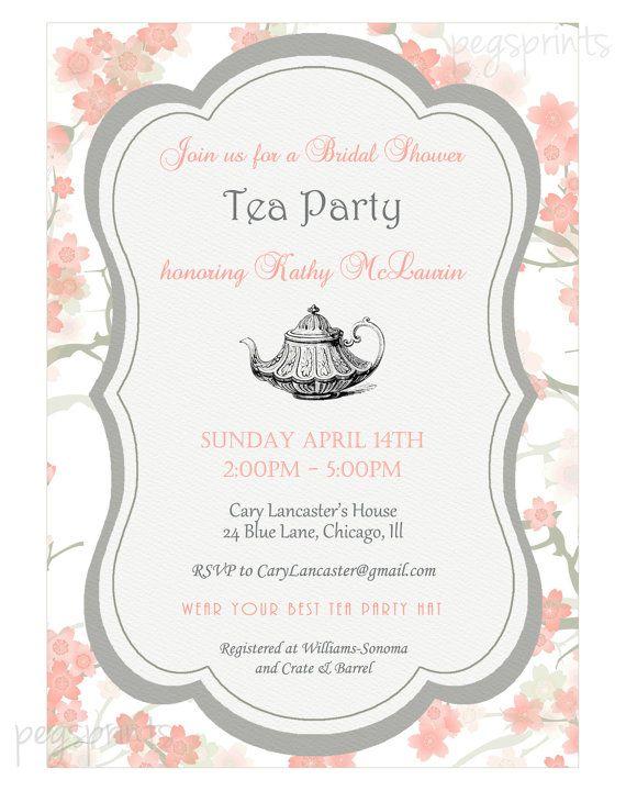 Bridal Shower High Tea Invitation (Printable)