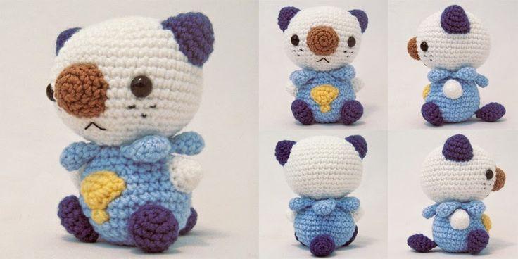 Amigurumi Patterns Pokemon : Oshawott Pokemon Amigurumi Pattern crochet Pinterest