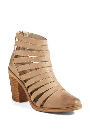 Hinge 'Dresden' Caged Leather Bootie (Women) available at #Nordstrom