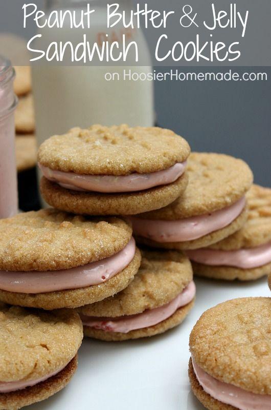 Peanut Butter & Jelly Sandwich Cookies: Soft Peanut Butter Cookies ...