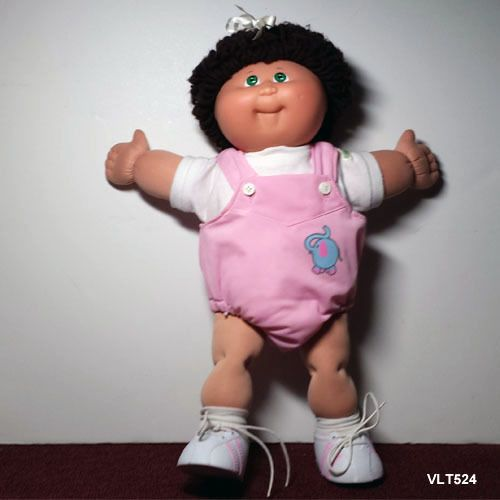 Cabbage Patch Kid Brown Hair Green Eyes Cabbage patch kids girl doll