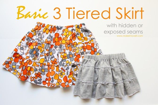 3 tiered skirt tutorial (w/ hidden or exposed seams) measurement chart included
