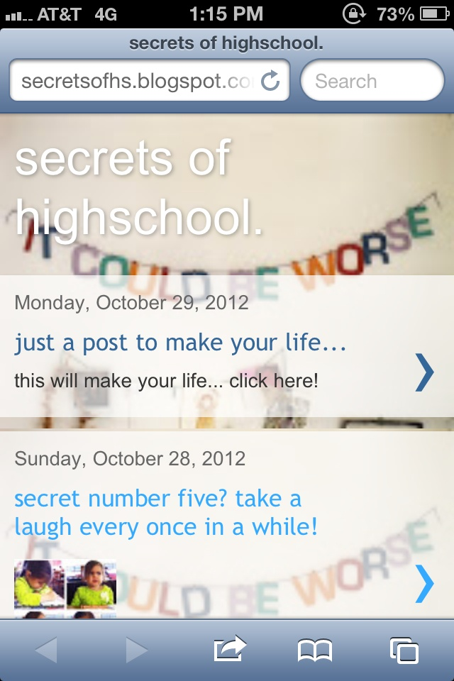 Secrets of high school. Truly love this blog! Every girl should read it!