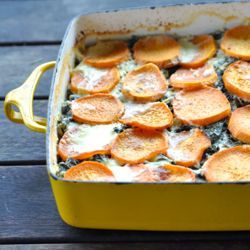 Kale and Sweet Potato Gratin #HealthyAperture.com