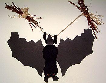 decoration pour lhalloween, réaliser une chauve-souris pour l ...