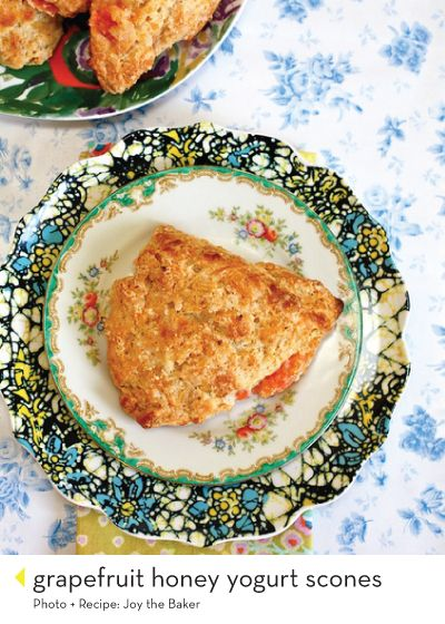 grapefruit honey yogurt scones | Creating deliciousness | Pinterest