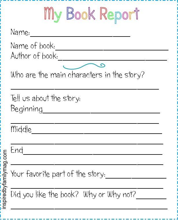2nd grade book report template datariouruguay