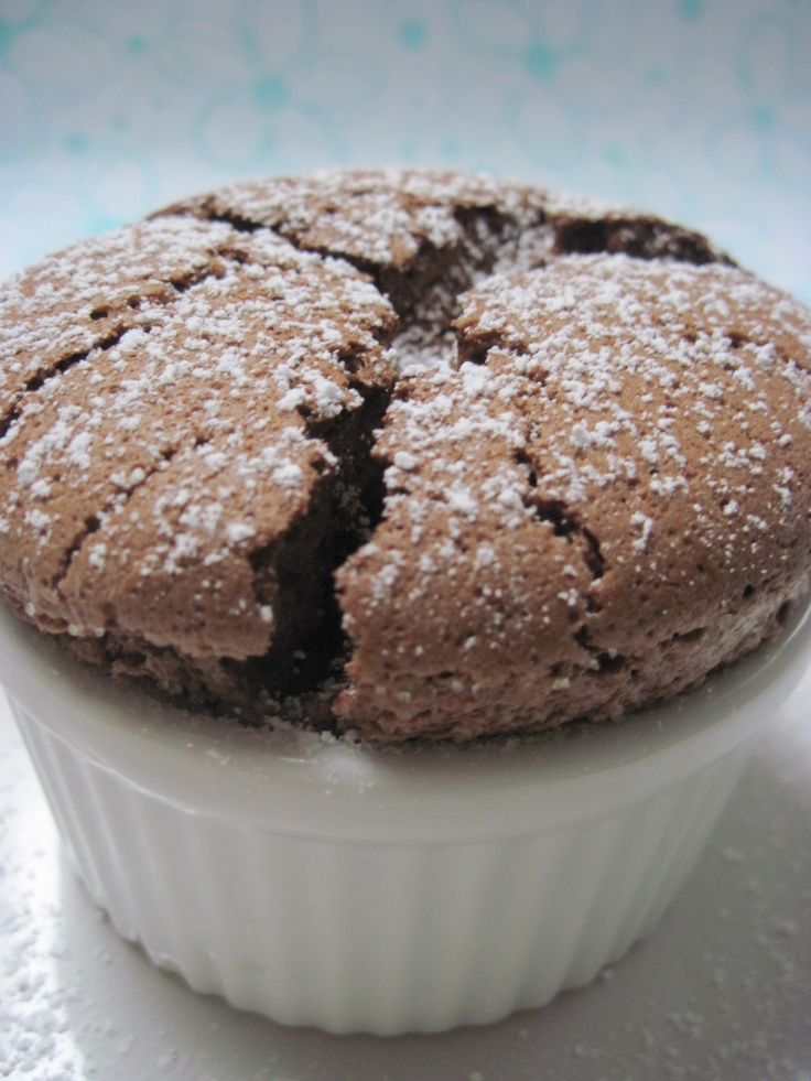 Dark Chocolate-Lime Souffles Recipe — Dishmaps