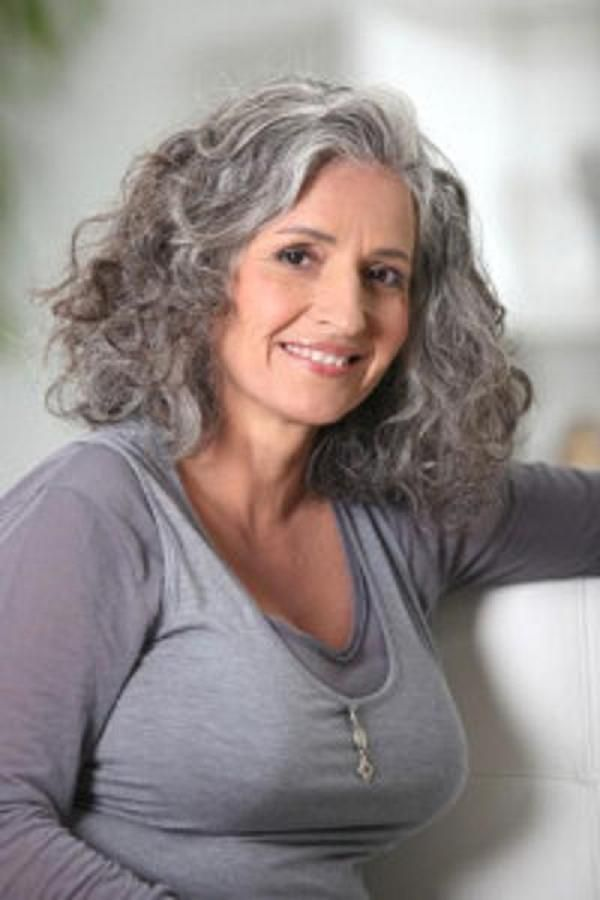 Curly Gray and Silver Hair sassy silver ! locks Pinterest