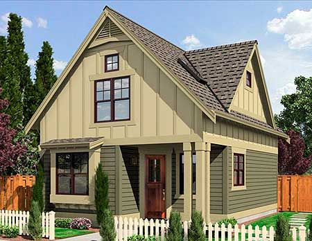 Narrow lot cottage for Narrow cottage house plans