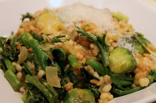 Multi-Grain Risotto with Roasted Broccolini and Brussels Sprouts - A ...