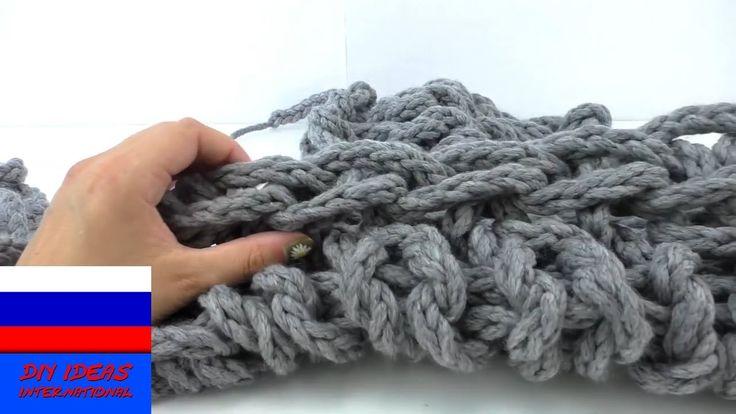 Своими руками связать шарф хомут