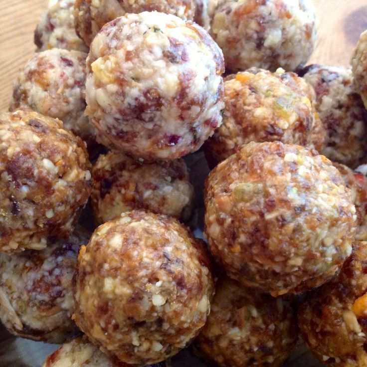 ... with various dried fruits and nuts and coconut oil (energy balls