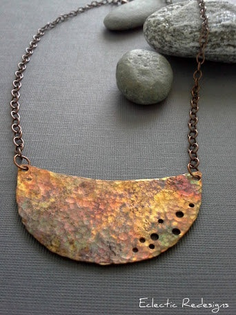 Half Moon of Copper by EclecticRedesigns on Etsy, $54.00
