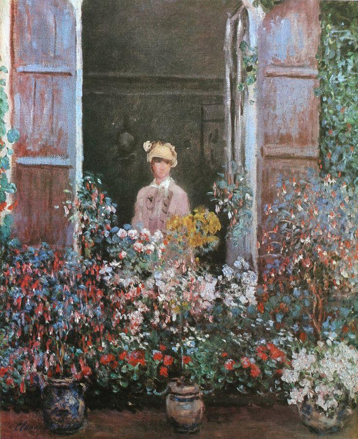 Claude Monet, Camille Monet at a Window, Argenteuil, 1873