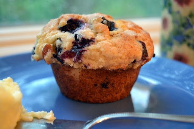 Blueberry Almond Muffins. I made an oat streusel topping for some ...