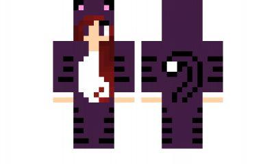 Minecraft skin purple cat fixed minecraft skins pinterest