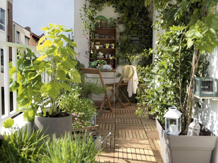 Une terrasse sur un balcon