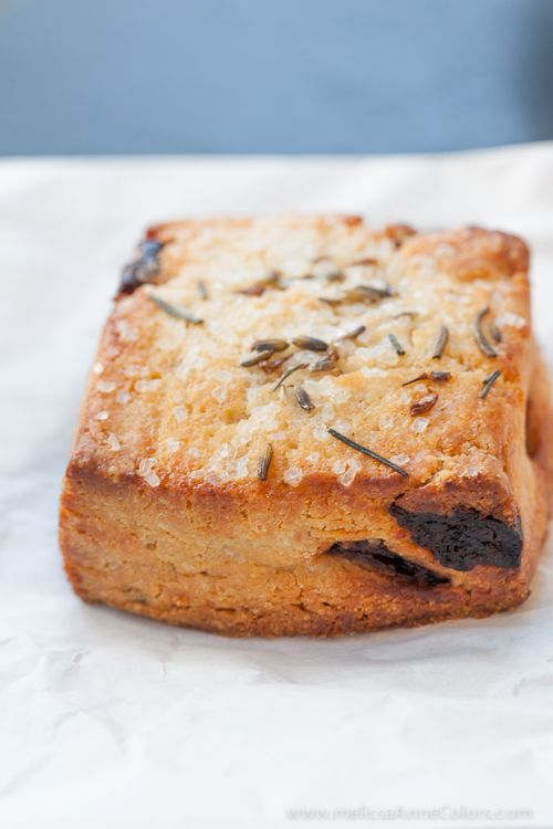 Sour cherry and lavender scone from Crumble & Flake. More here http ...