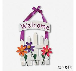 welcome sign kids craft class ideas pinterest
