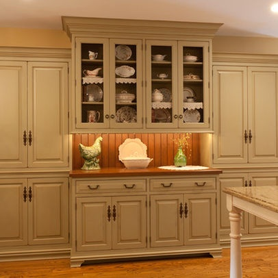 Built in china cabinet kitchen ideas pinterest for Built in kitchen cabinets