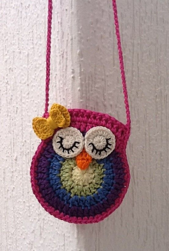 Free Crochet Patterns For Owl Purses : Pin by anita mcbride on Crochet - Purses, etc. Pinterest