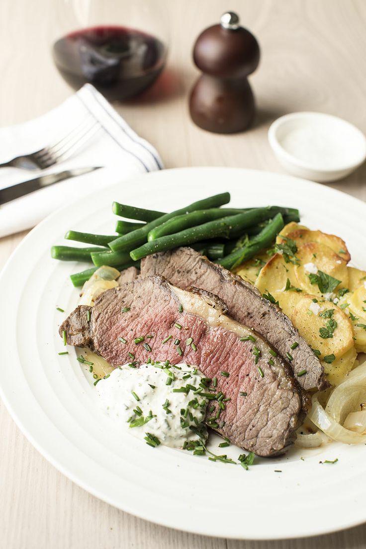 Roast Beef with Potato Gratin and Horseradish Cream | New Zealand ...