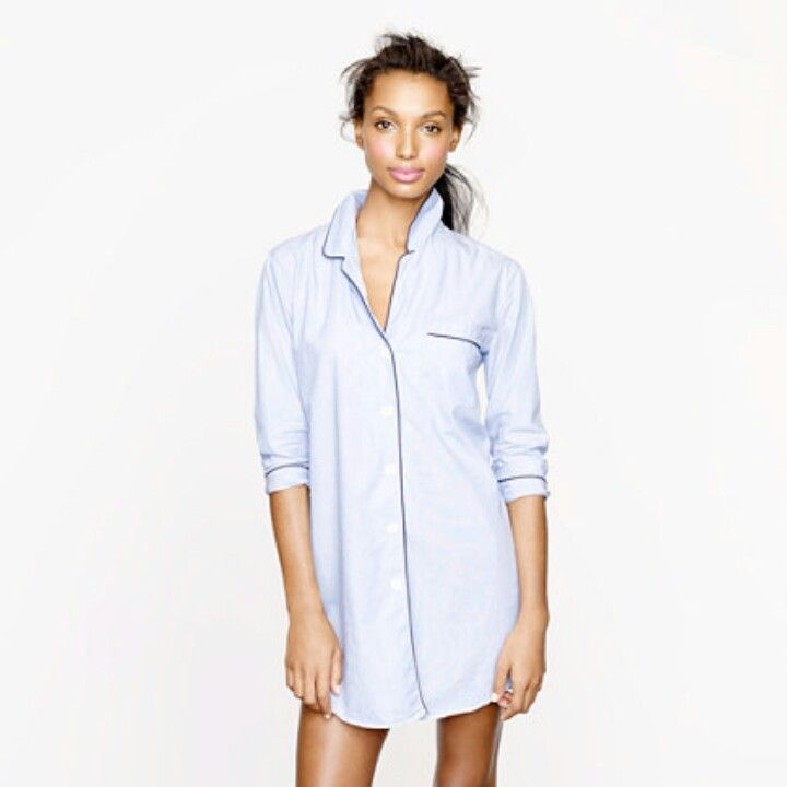Button down nightshirt cute comfy sassy winter pj 39 s for Long sleep shirts cotton