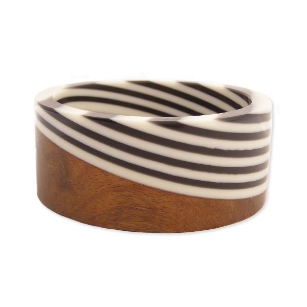 wood and stripes bangle - love! {via @Joy Cho / Oh Joy!}