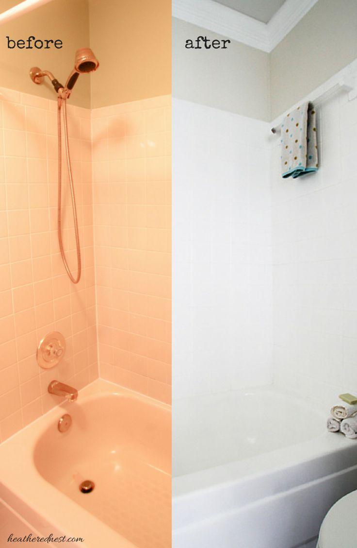 Refinish bathroom tile
