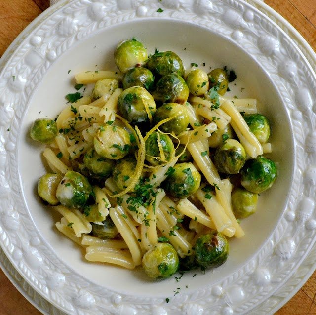 Lemon Cream Pasta by theviewfromgreatisland #Pasta #Brussel_Sprouts ...