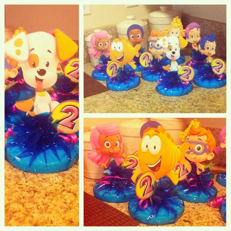 Cute centerpieces bubble guppies party pinterest - Bubble guppies center pieces ...