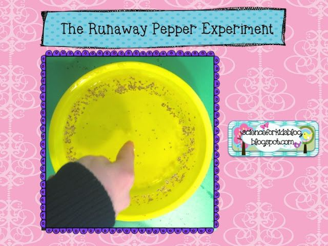 Runaway Glitter Experiment | Sciences classe | Pinterest