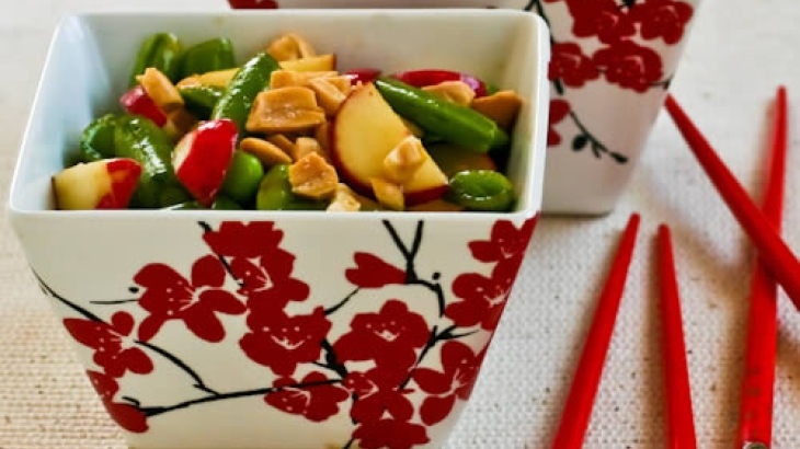 Asian Sugar Snap Pea Salad with Radishes and Edamame Recipe