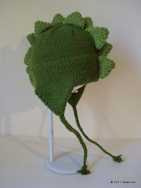 Dinosaur Knit Hat Pattern : Ravelry: Dino Cap pattern by Kris Hanson knitting projects Pinterest