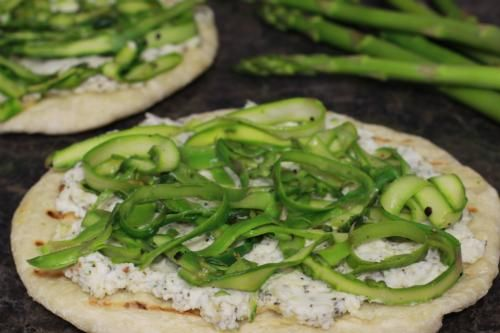 Grilled Zucchini and Asparagus Pizza with Ricotta - Wildtree Recipes ...
