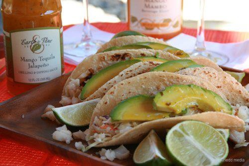 Cool and spicy, this tropical sauce is great over fish tacos or ...