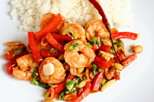 kung pao shrimp | Asian Dishes | Pinterest