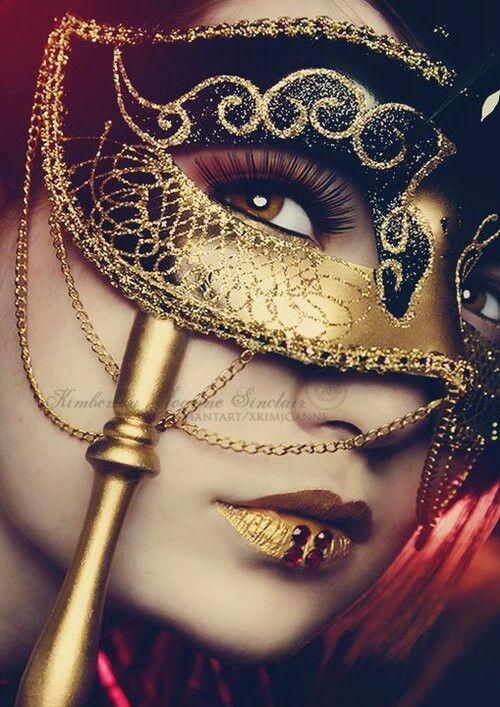 Black and gold ornate masquerade mask.   {Carnivale ...