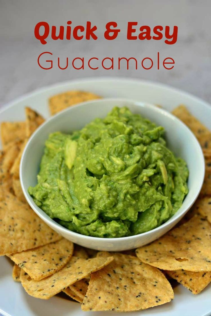 Easy Guacamole from Growing Up Gabel is made with just a few simple ...