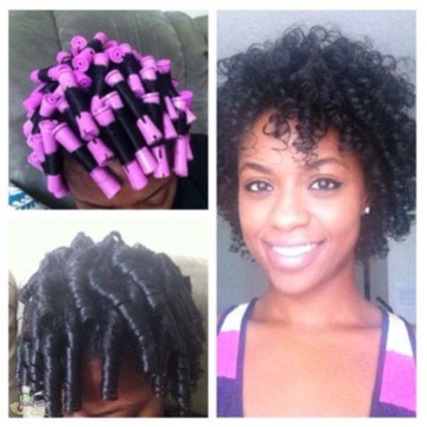 Perm Rod Set On Transitioning Hair