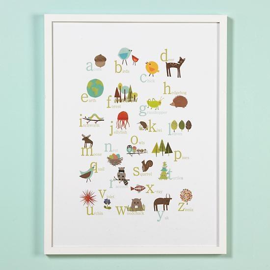 30 framed abc r land of nod the baby 39 s crib pinterest for Letter wall art