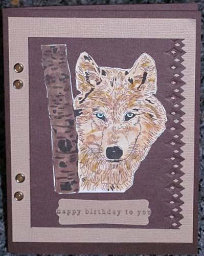 Rubber Stamp Card - Lone Wolf