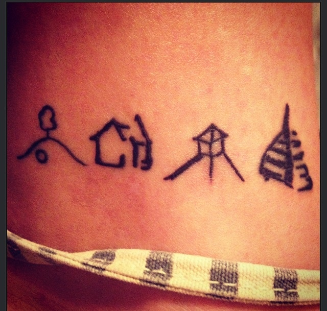 My newest edition to my body. The Shire, Rivendell, Edoräs, Minas Tirith. #LOTR #Nerd #Tattoo