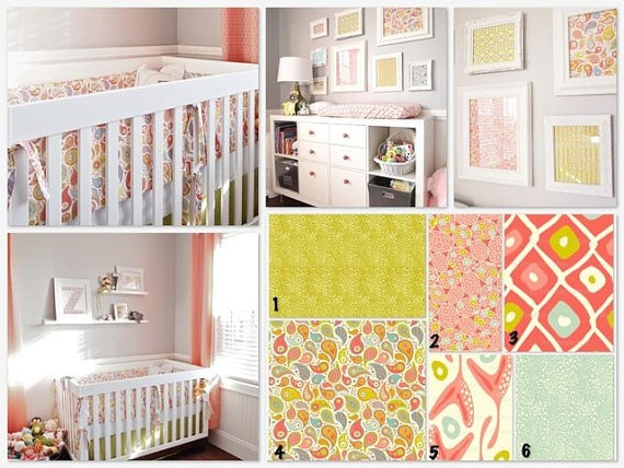 baby girl nursery color scheme baby bedding pinterest