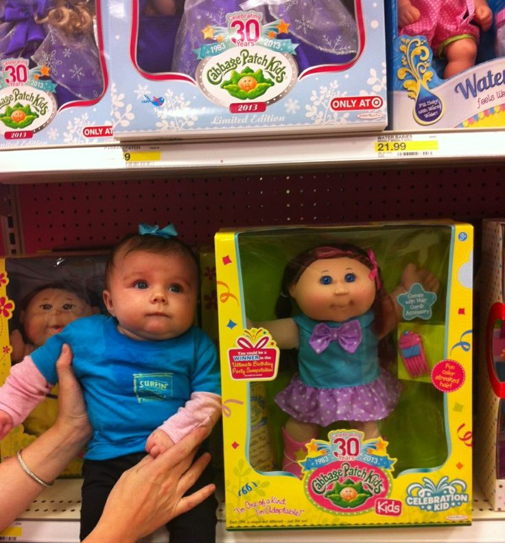 Finding her twin cabbage patch kid sister at target guess who will be