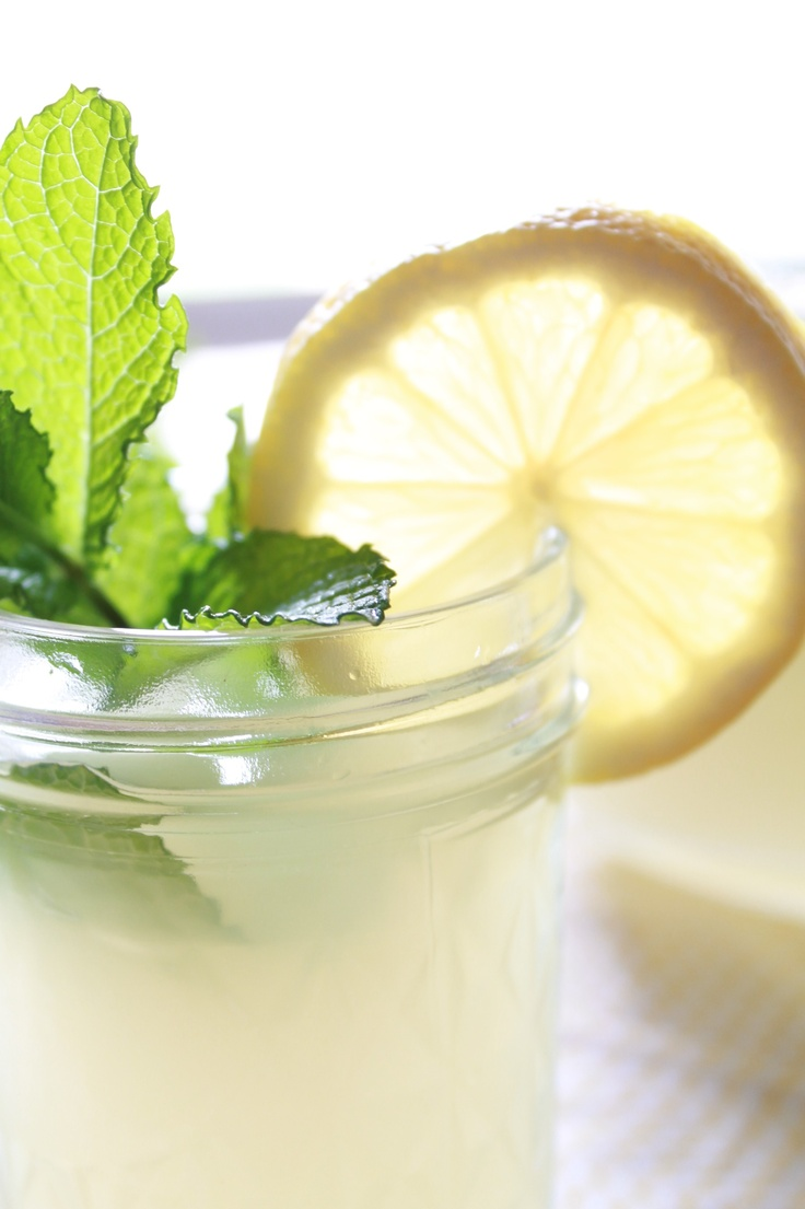 fresh homemade mint lemonade | Drinks | Pinterest